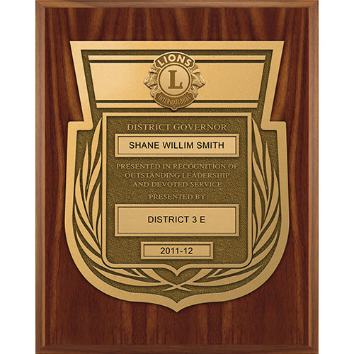 DISTRICT GOVERNOR PLAQUE