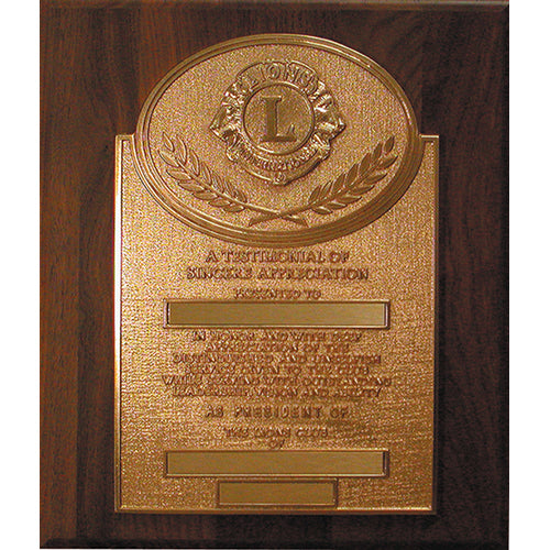 PAST PRESIDENT PLAQUE