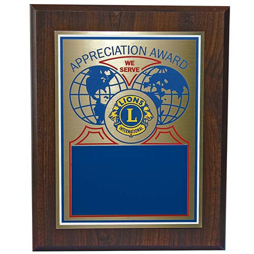 APPRECIATION AWARD PLAQUE