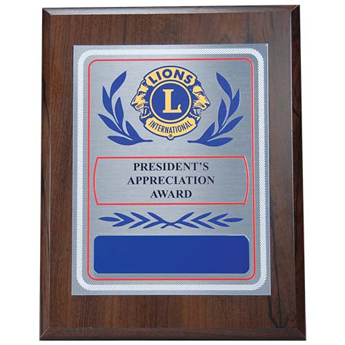 PRESIDENT APPRECIATION PLAQUE