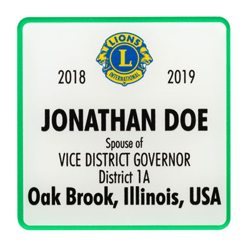 SPOUSE OF VICE DISTRICT GOVERNOR BADGE