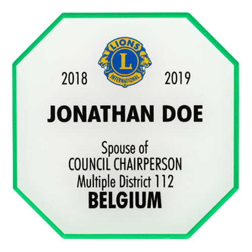 SPOUSE OF COUNCIL CHAIRPERSON BADGE