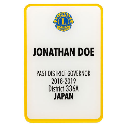 PAST DISTRICT GOVERNOR BADGE