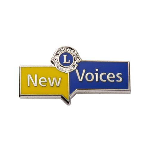 NEW VOICES LAPEL PIN
