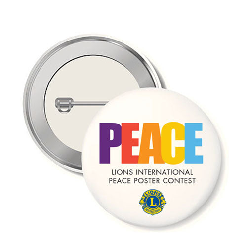 PEACE POSTER BUTTON 10/PACK