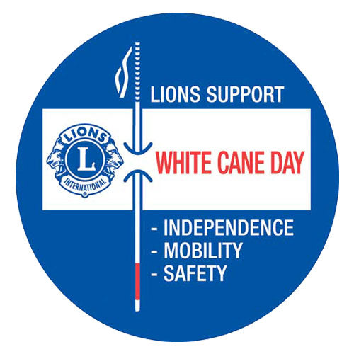 LIONS WHITE CANE TAGS