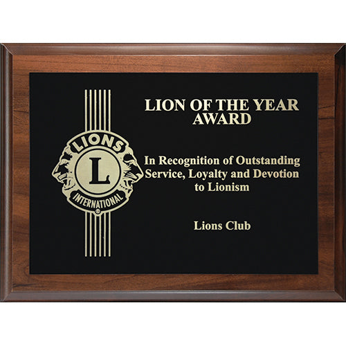 LION OF THE YEAR PLAQUE