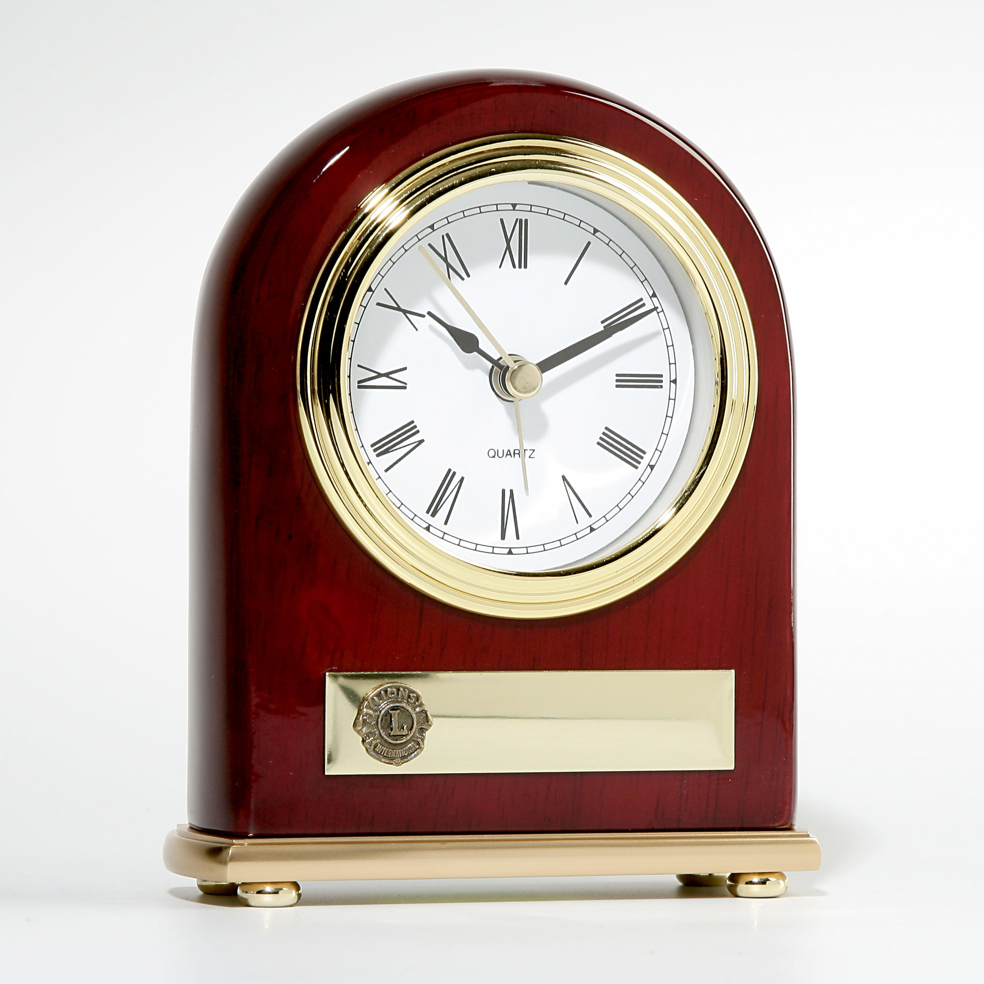 ROSEWOOD PIANO FINISH  CLOCK
