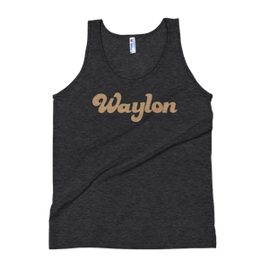 Unisex Logo Tank Heather Black