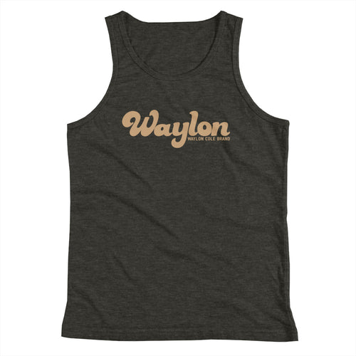 Kids Unisex Logo Tank Dark Heather Gray