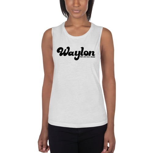 Women's Logo Muscle Tank White