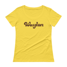 Load image into Gallery viewer, Women's Scoop Neck Logo Tee Lemon Zest