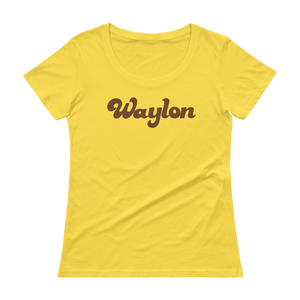 Women's Scoop Neck Logo Tee Lemon Zest
