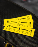 412 MOTORSPORT YELLOW GRAPHIC STICKER