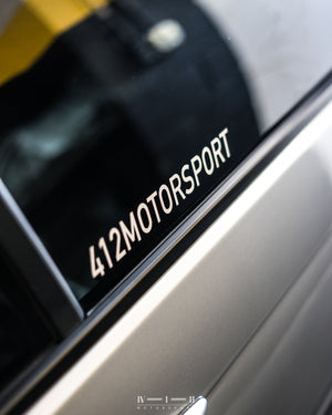 412 MOTORSPORT CLEAR DECAL / STICKER