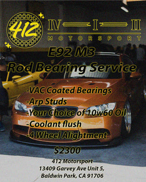 E9X M3 / S65 Rod Bearing Service Special