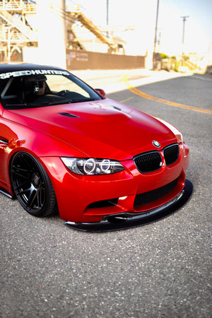 GT4 STYLE CARBON FIBER FRONT LIP W/ AIR HOLES - BMW E9X M3