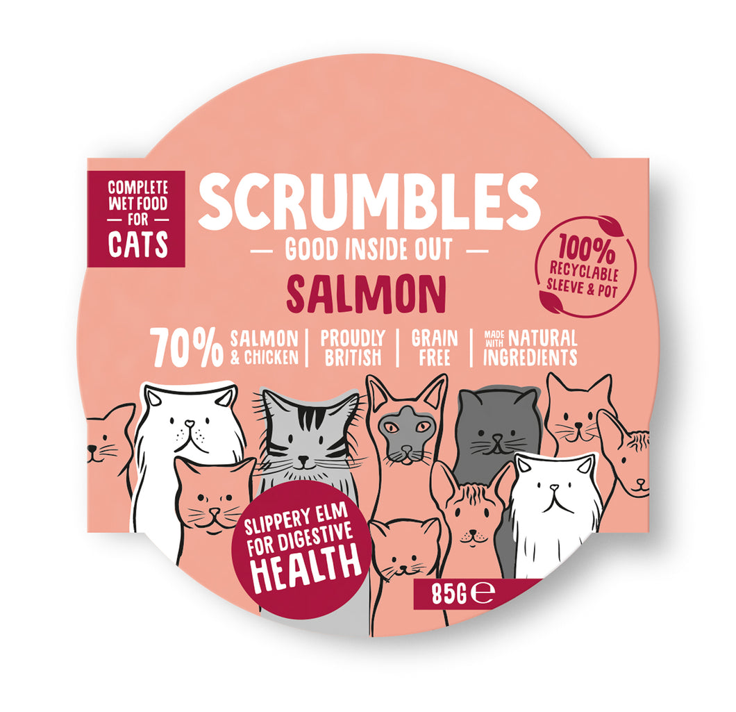 Wet Cat Food Salmon Case of 8 x 85g