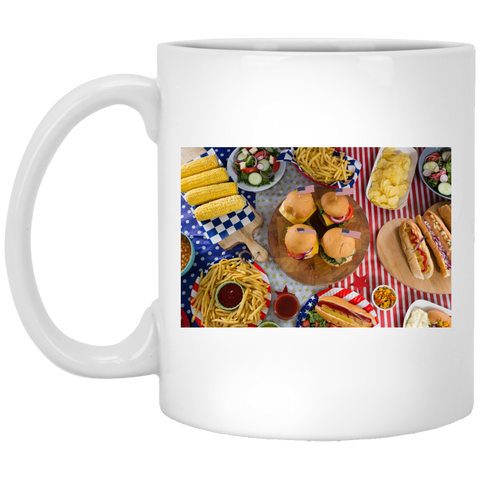 Fourth of July Cookout White Mug