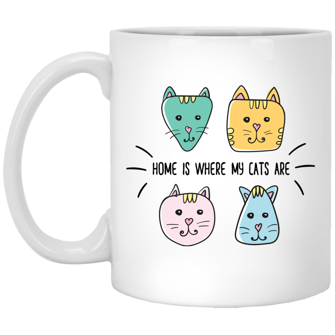 Home is Where My Cats Are White Mug