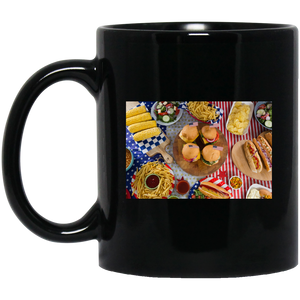 Fourth of July Picnic Black Mug