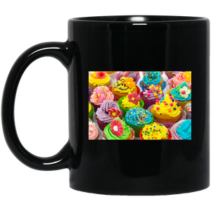 Colorful Cupcakes Black Mug