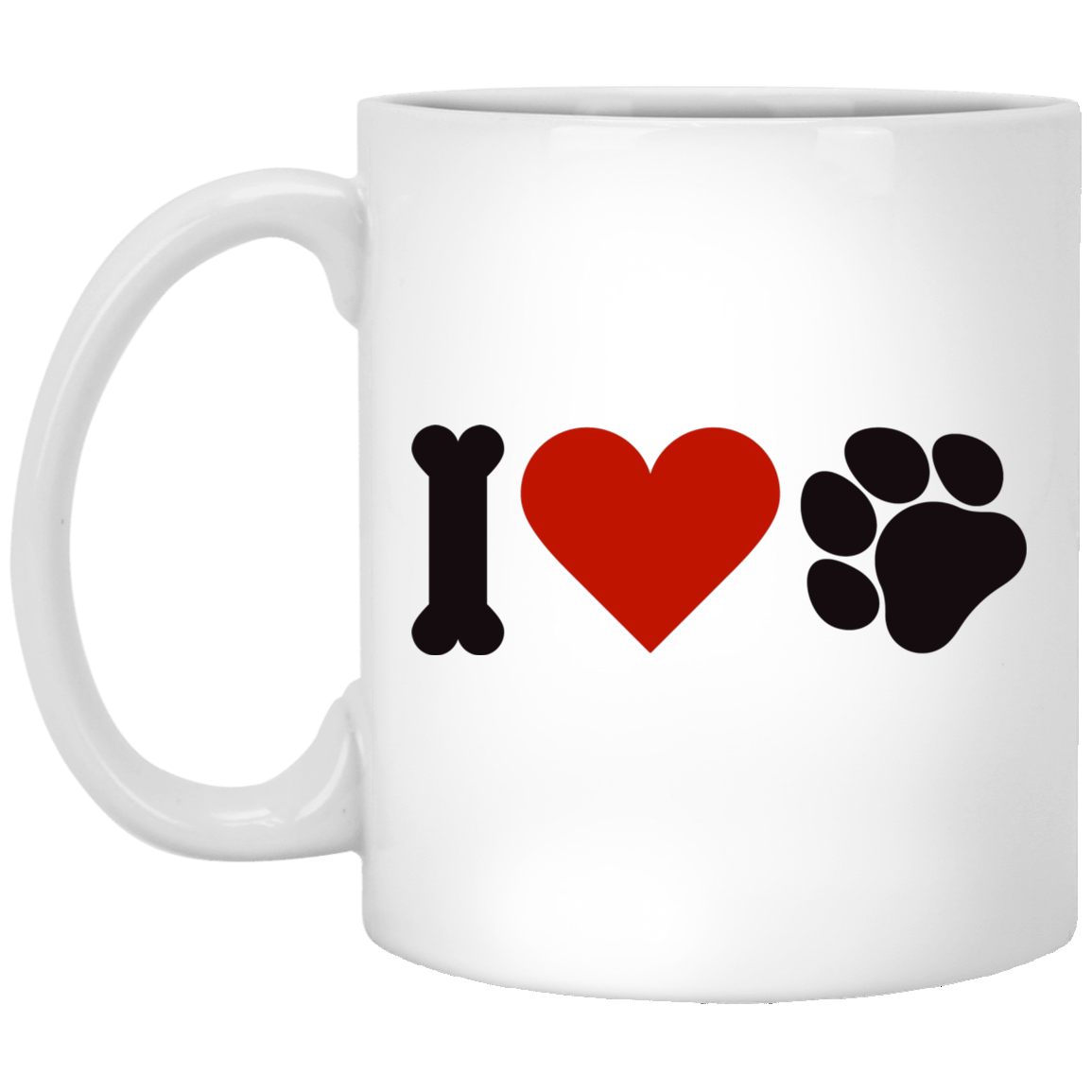 I Love Animals White Mug