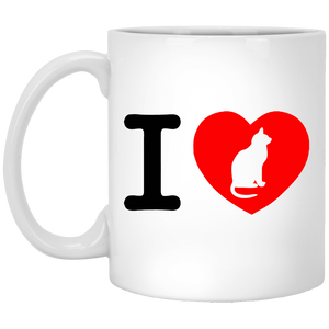 I Love Cats White Mug