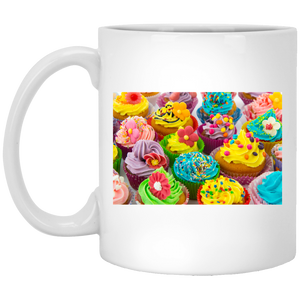 Colorful Cupcakes White Mug