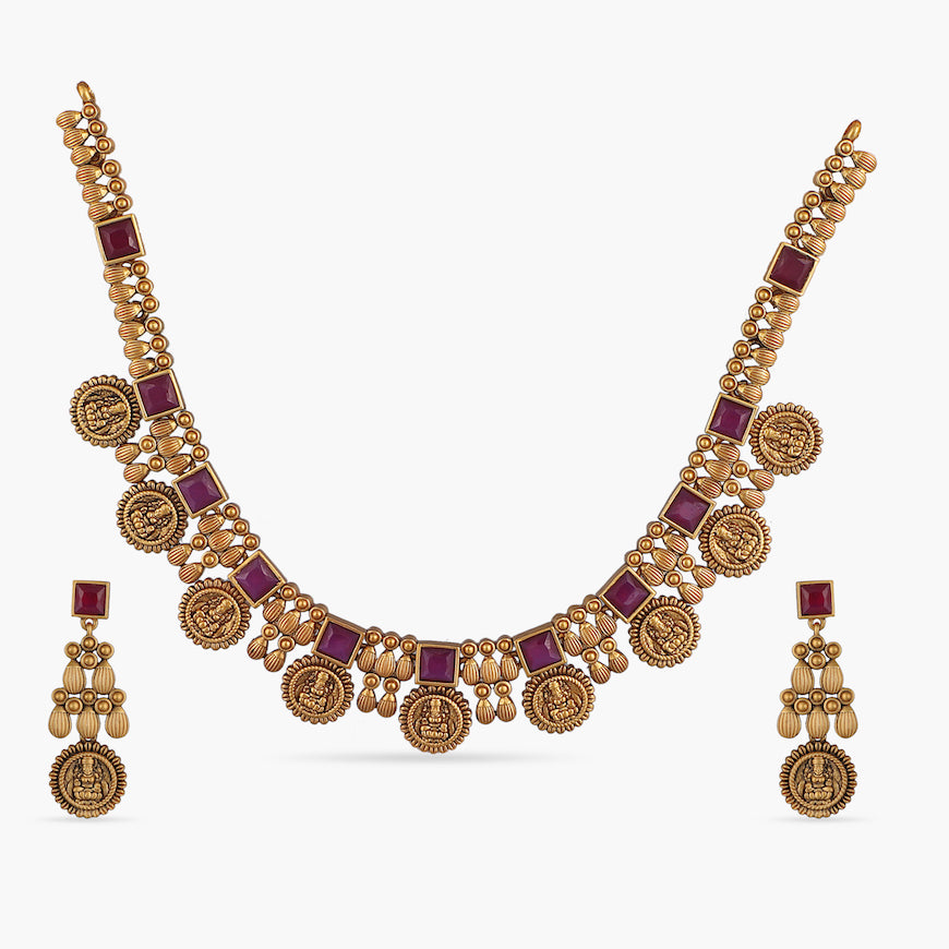 Dwija Antique Necklace Set