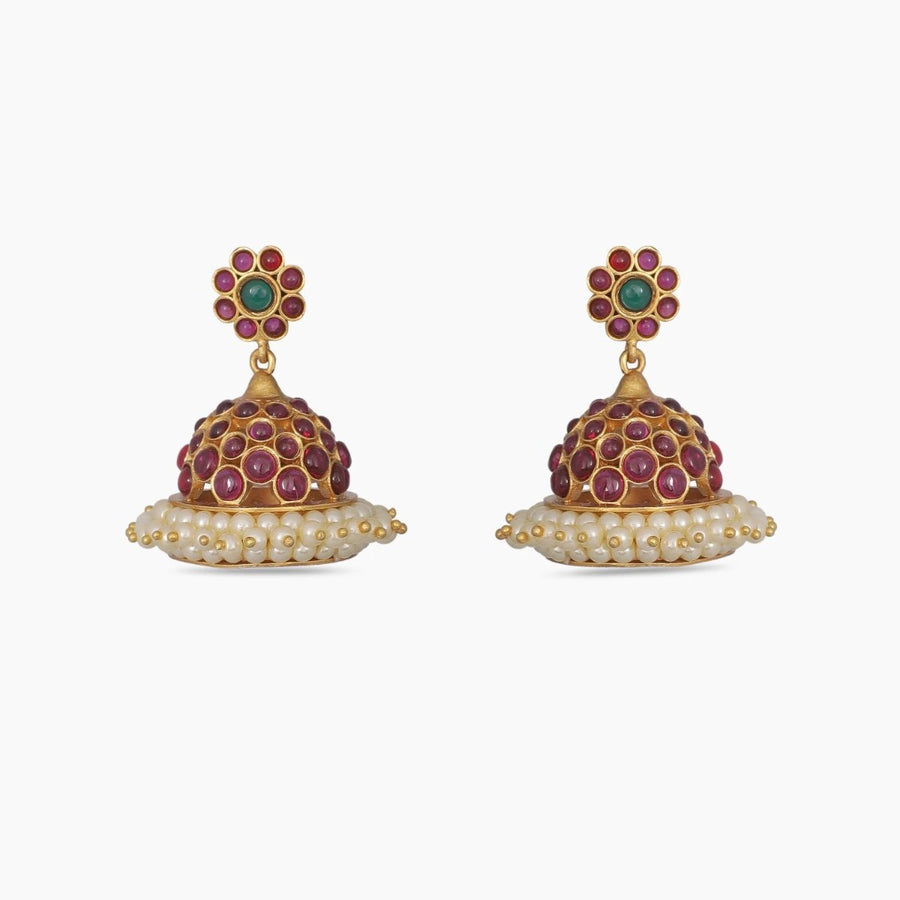 Devika Antique Jhumka Earrings