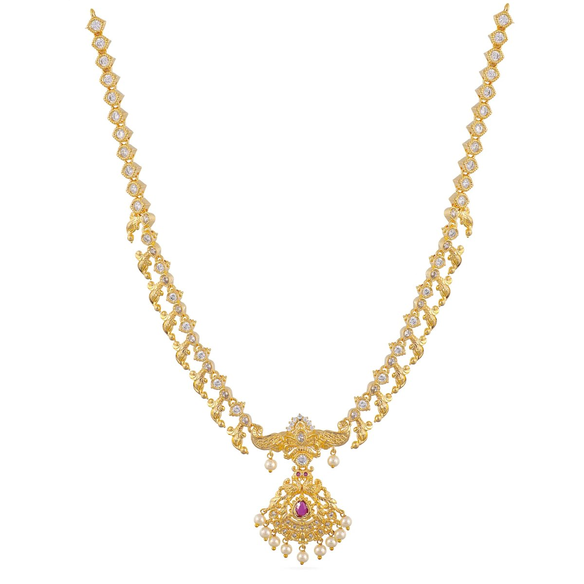 Nisha Nakshatra CZ Kids Long Necklace