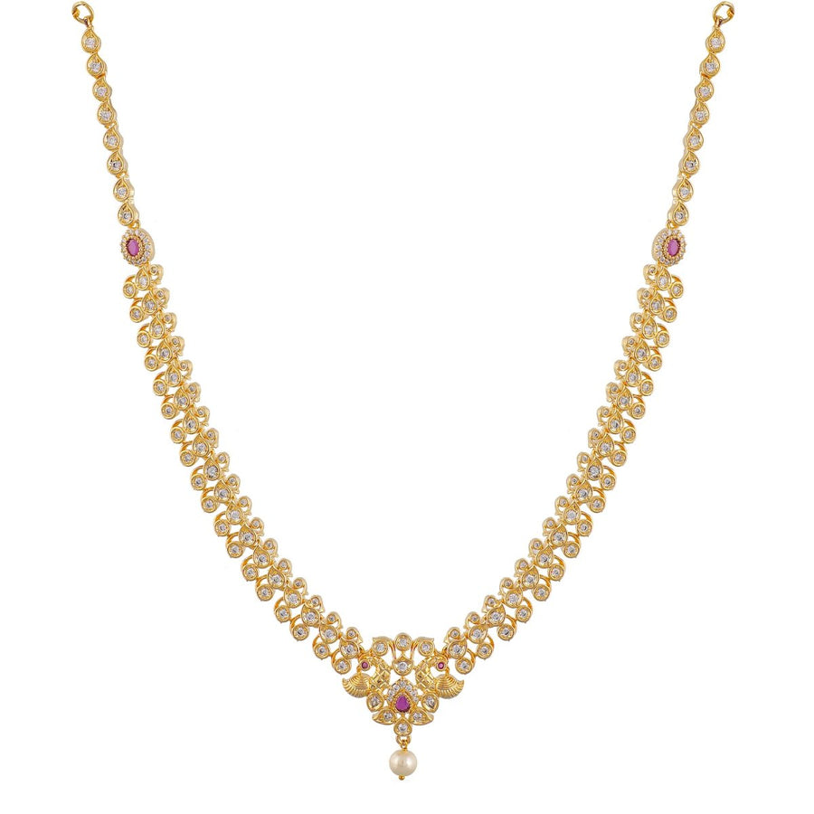 Vansha Nakshatra CZ Kids Long Necklace