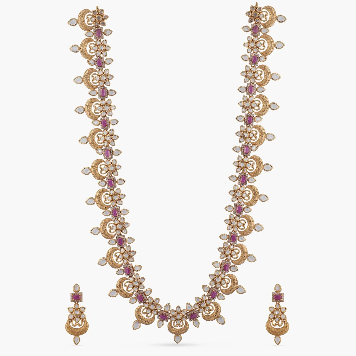 Maira Antique Long Necklace Set