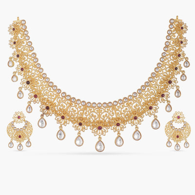 Hafisa Kundan Necklace Set