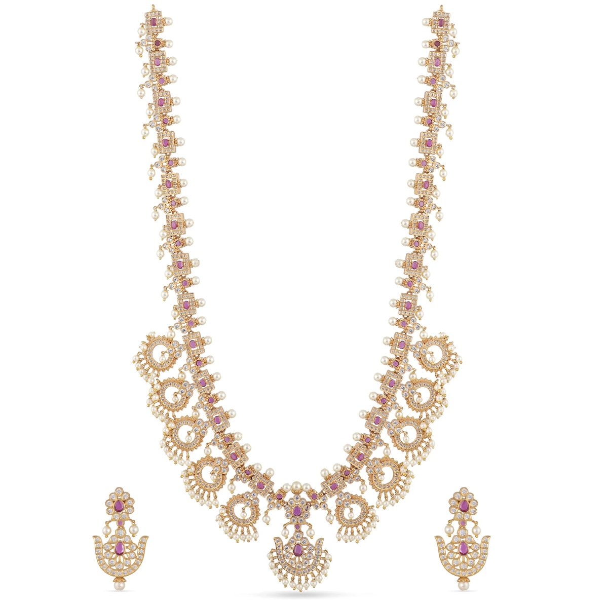Aamya Antique Long Necklace Set