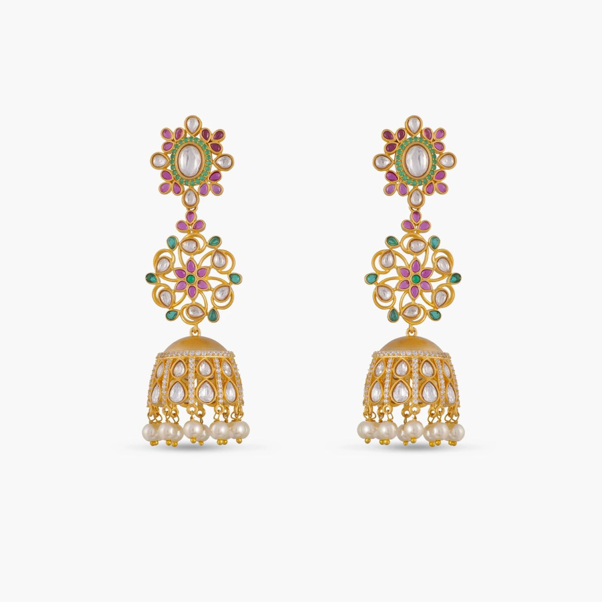 Aayat Kundan Jhumka Earrings