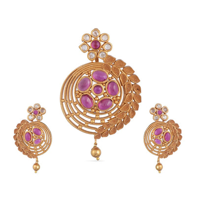 Leya Antique Pendant Set