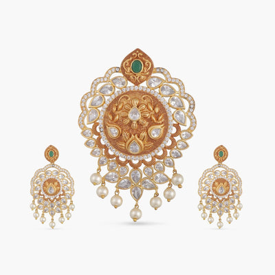 Kaisha Antique Pendant Set
