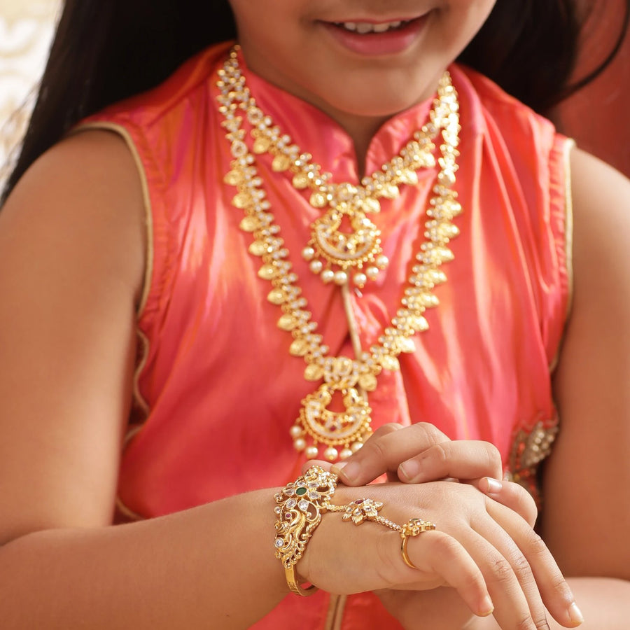 Kyra Antique Kids Hand Chain by Tarinika