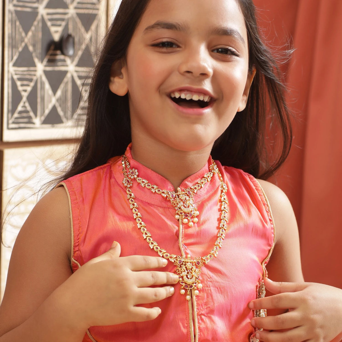 Dhriti Nakshatra CZ Kids Long Necklace