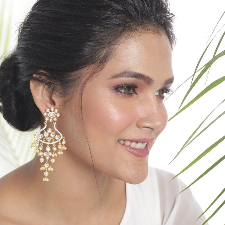 Erika Kundan Earrings