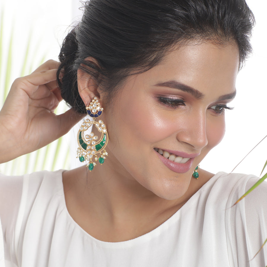 Nyra Kundan Earrings by Tarinika