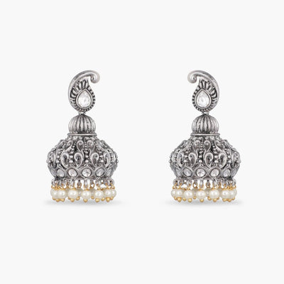 Haiya Kundan Jhumka Earrings