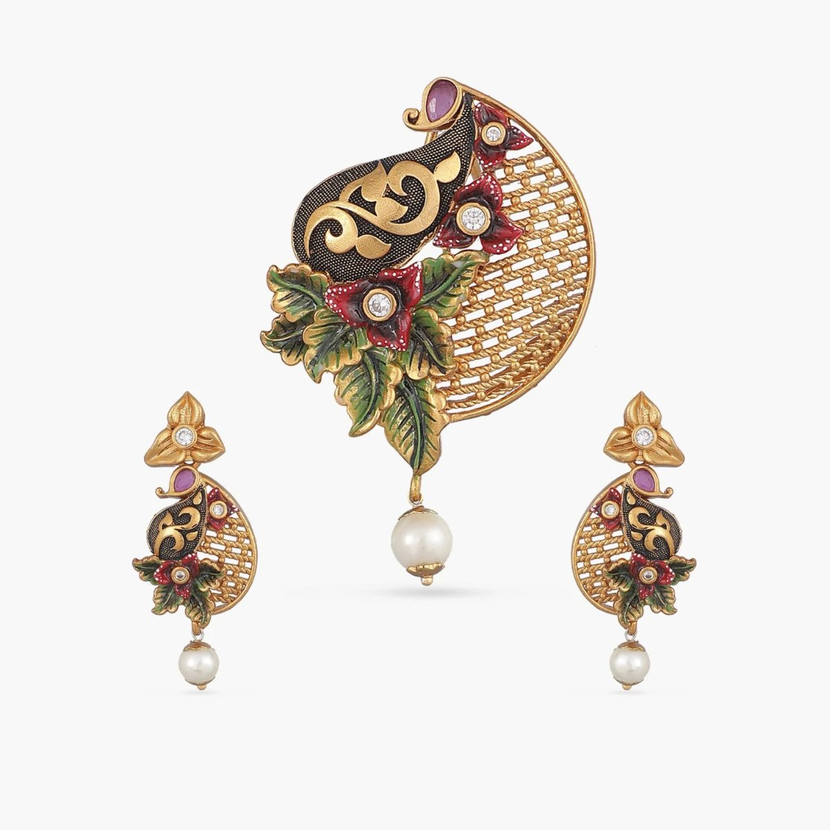 Nidhi Antique Pendant Set