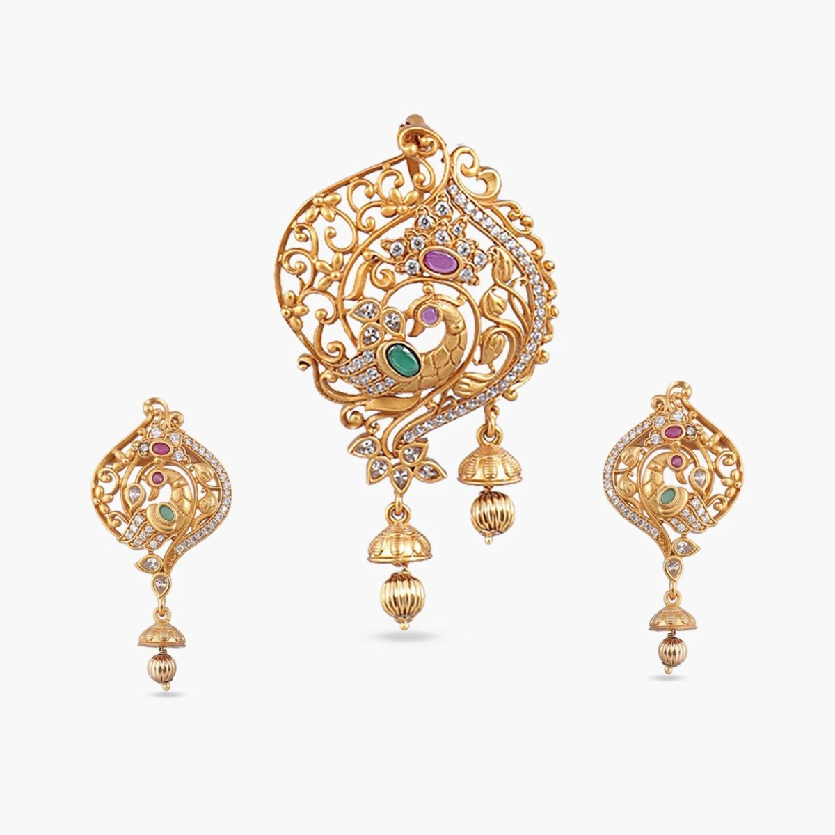 Amna Antique Pendant Set