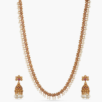 Grace Antique Long Necklace Set