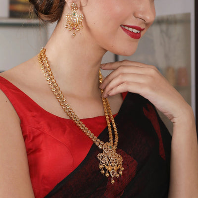Brija Antique Long Necklace Set