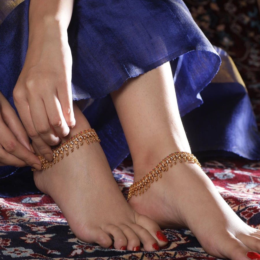 Asya Antique Anklets