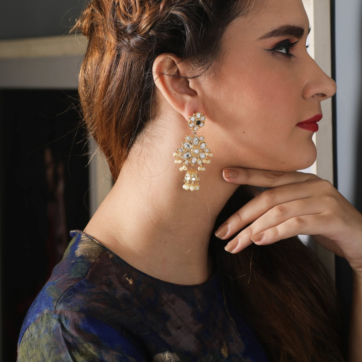 Iniya Kundan Earrings